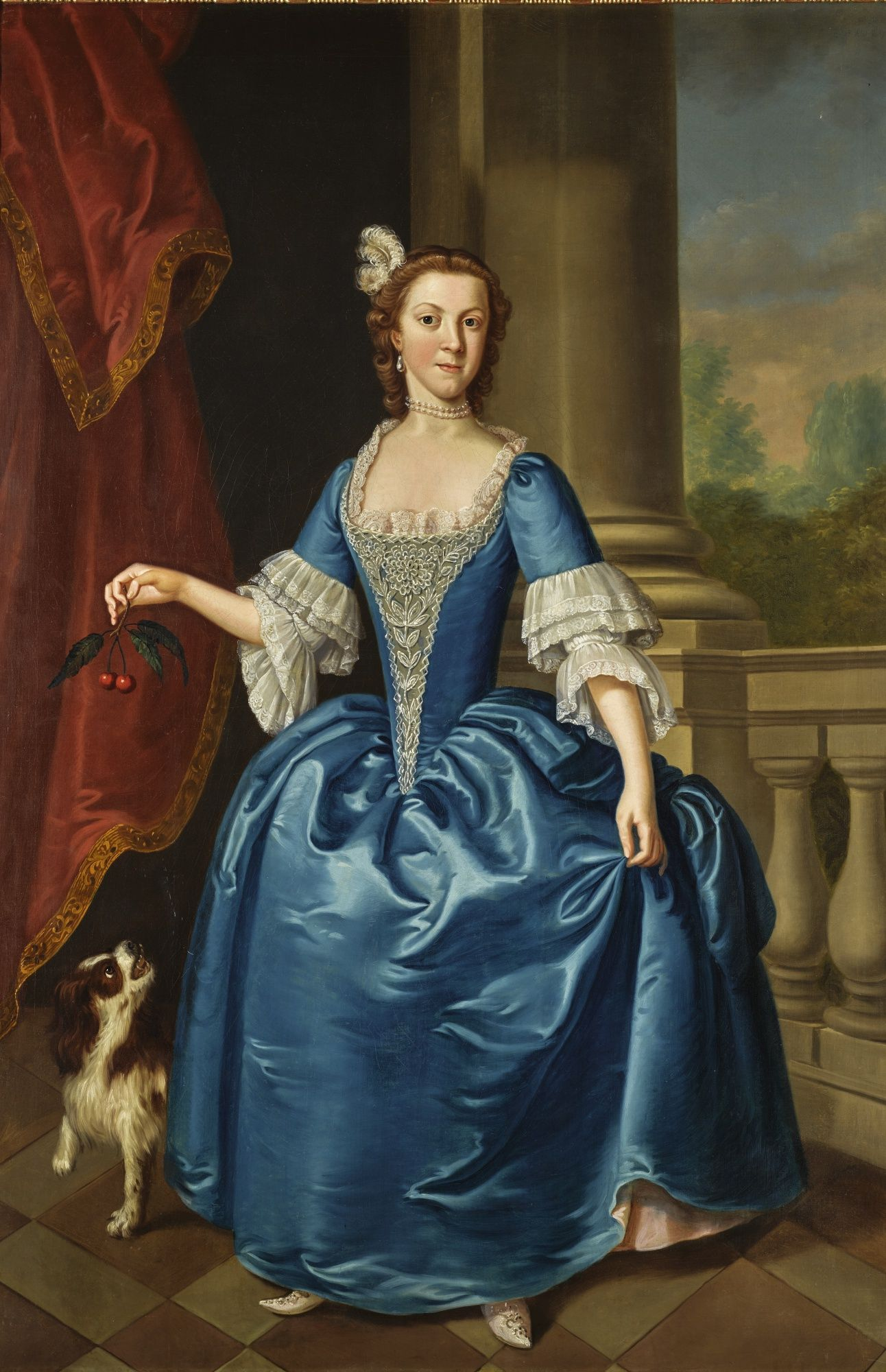 Billedresultat for 18th century portrait blue