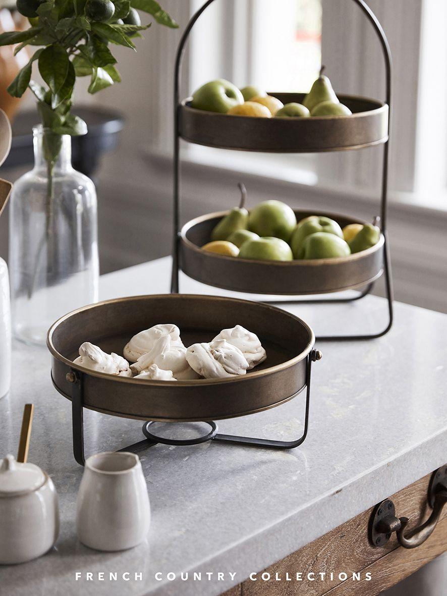 2 Tier Fruit Bowl Or Display Shelf In 2020 Fruit Bowl Display