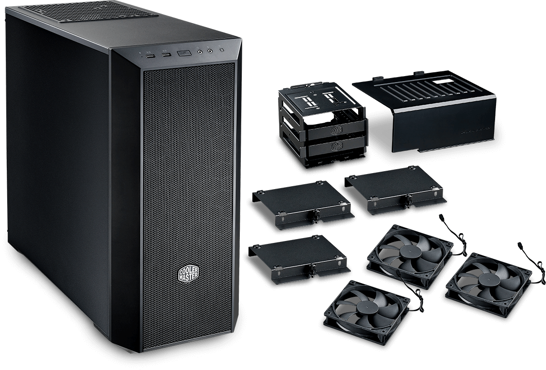 Cooler Master Masterbox 5 Black With Meshflow Front Panel B2b Graphic Card Cooler Master Motherboards