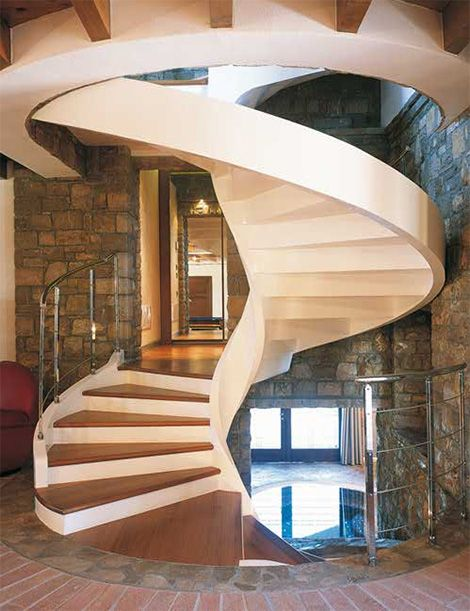 Circular Stairs Design Staircase With Shape Spiral Design Design Modern Home Minimalist Stairs Design Staircase Design Stairs Design Interior
