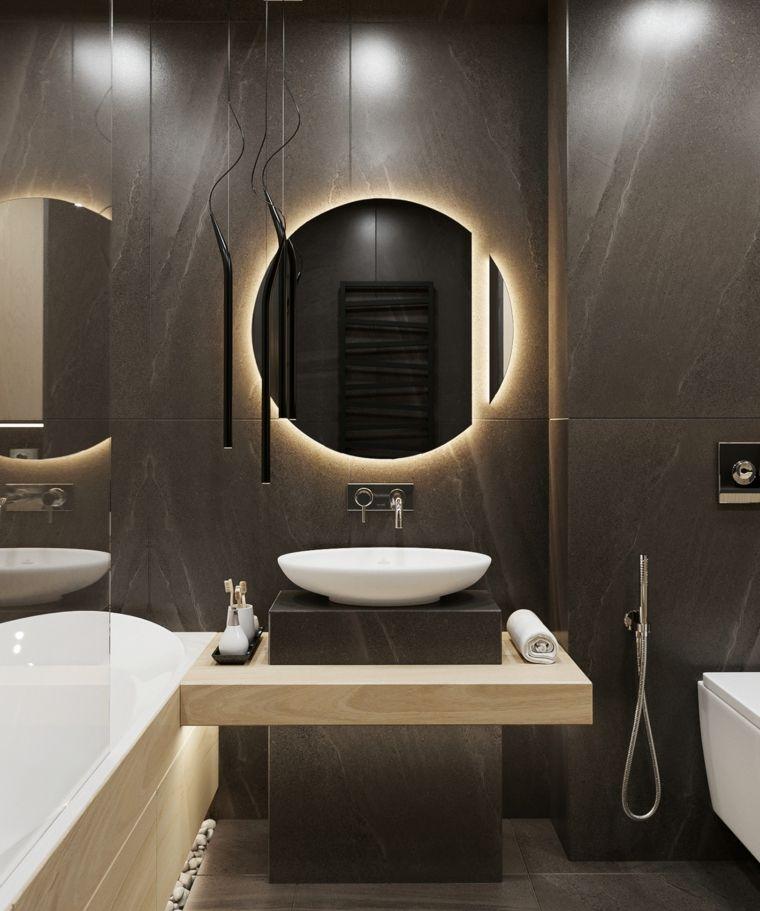 rivestimenti bagni esempi con piastrelle di colore nero