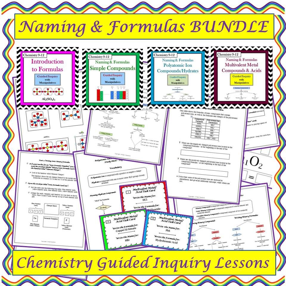 These Four Student Centered Guided Inquiry Lessons Enable Students To Construct Their Own Understan Teaching Chemistry Chemistry Classroom Chemistry Education [ 960 x 960 Pixel ]