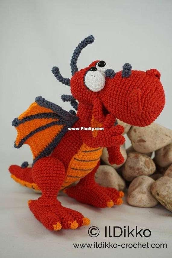 Pin de Ana Isabel en Amigurumi   Pinterest   Dragones, Muñecos en ...