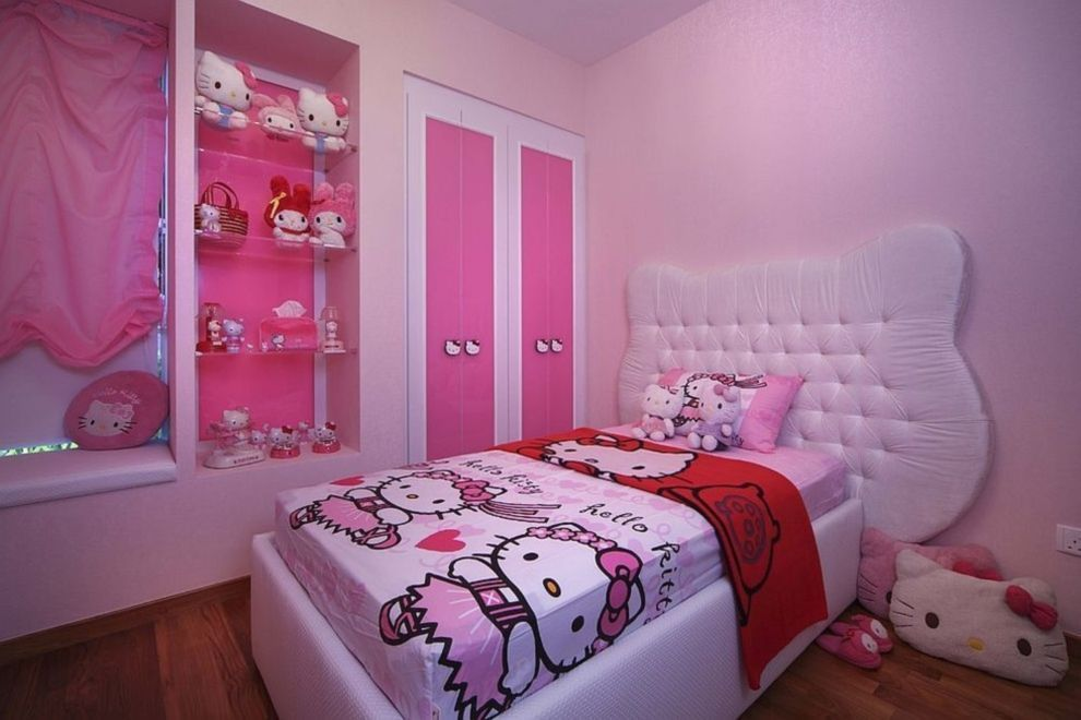 Hello Kitty Bedroom Is One Of The Most Popular Interior Theme For A - Hello-kitty-bedroom-set-interior