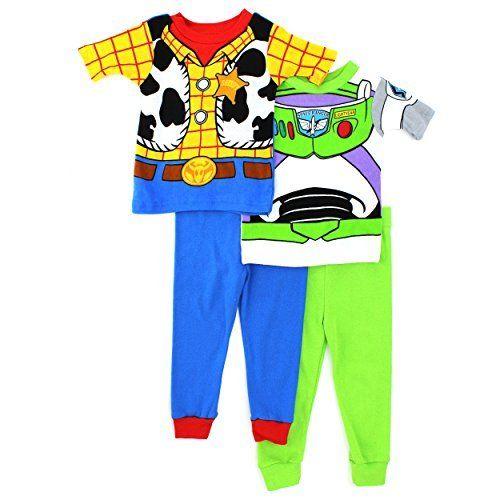 eb0adfef7 Toy Story Woody Buzz Boys 4 pc Cotton Pajamas Set   Amazon Coupons ...