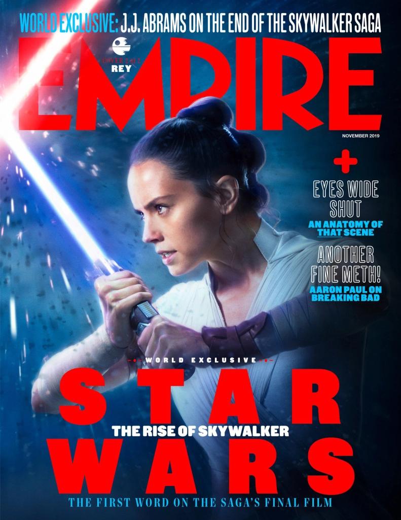 Star Wars The Rise Of Skywalker Empire Magazine Rey Cover Star Wars Empire Star Wars Episodes Star Wars