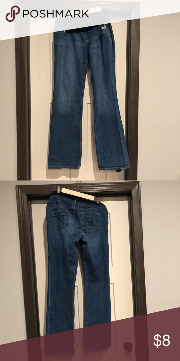2fcf9b25c183d Motherhood Tall Bootcut Maternity Jeans Great condition, long length denim  maternity pants. Indigo Blue
