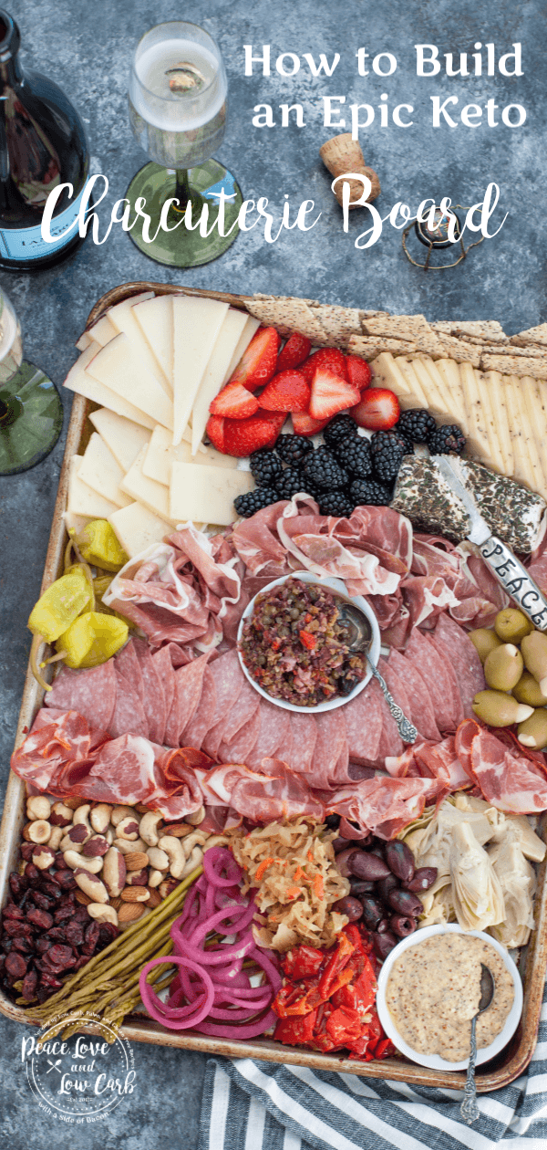 How to Build an Epic Keto Charcuterie Board #charcuterieboard