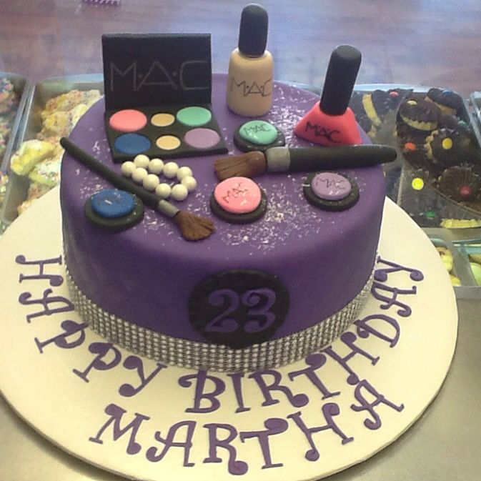 MAC Makeup Theme Cake All Fondant