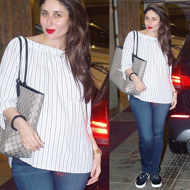Awh Slaying Babe Pc Dnaafterhrs Kareena Kareenakapoor Kareenakapoorkhan Bollywood Outfits Casual Work Attire Kurti Designs Latest