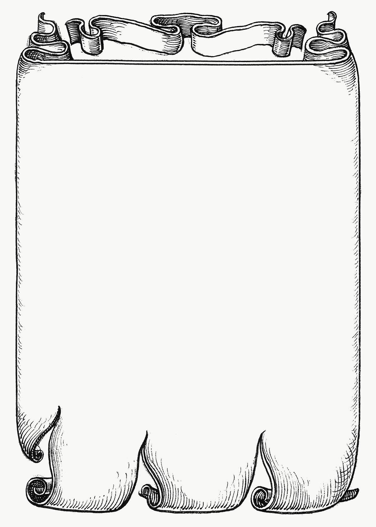 Banner Png Black And White : banner, black, white, Medieval, Parchment, Banner, Transparent, Background, Image, Rawpixel.com, Woraluck, Background,, Antique, Artwork,, Vintage, Illustration