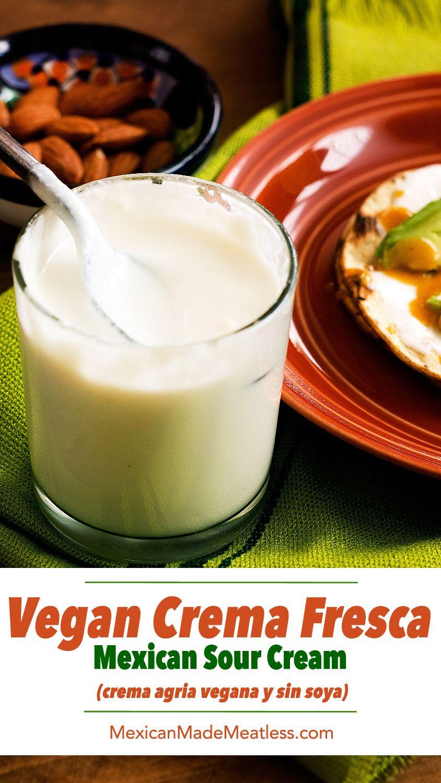 How to Make #vegan #crema Fresca (no soy) | Como hacer crema fresca #vegana