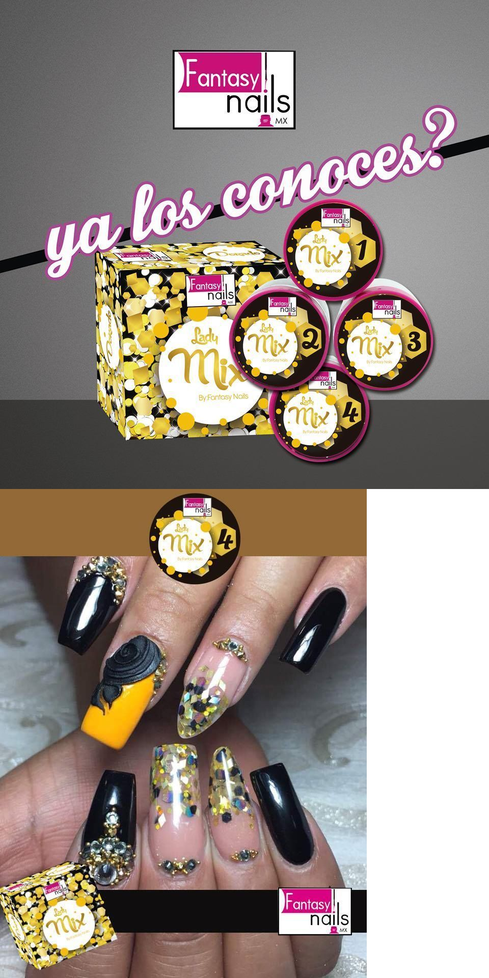 Fantasy Nails Lady Mix Yellow Collection Free 2 Decorations Nail