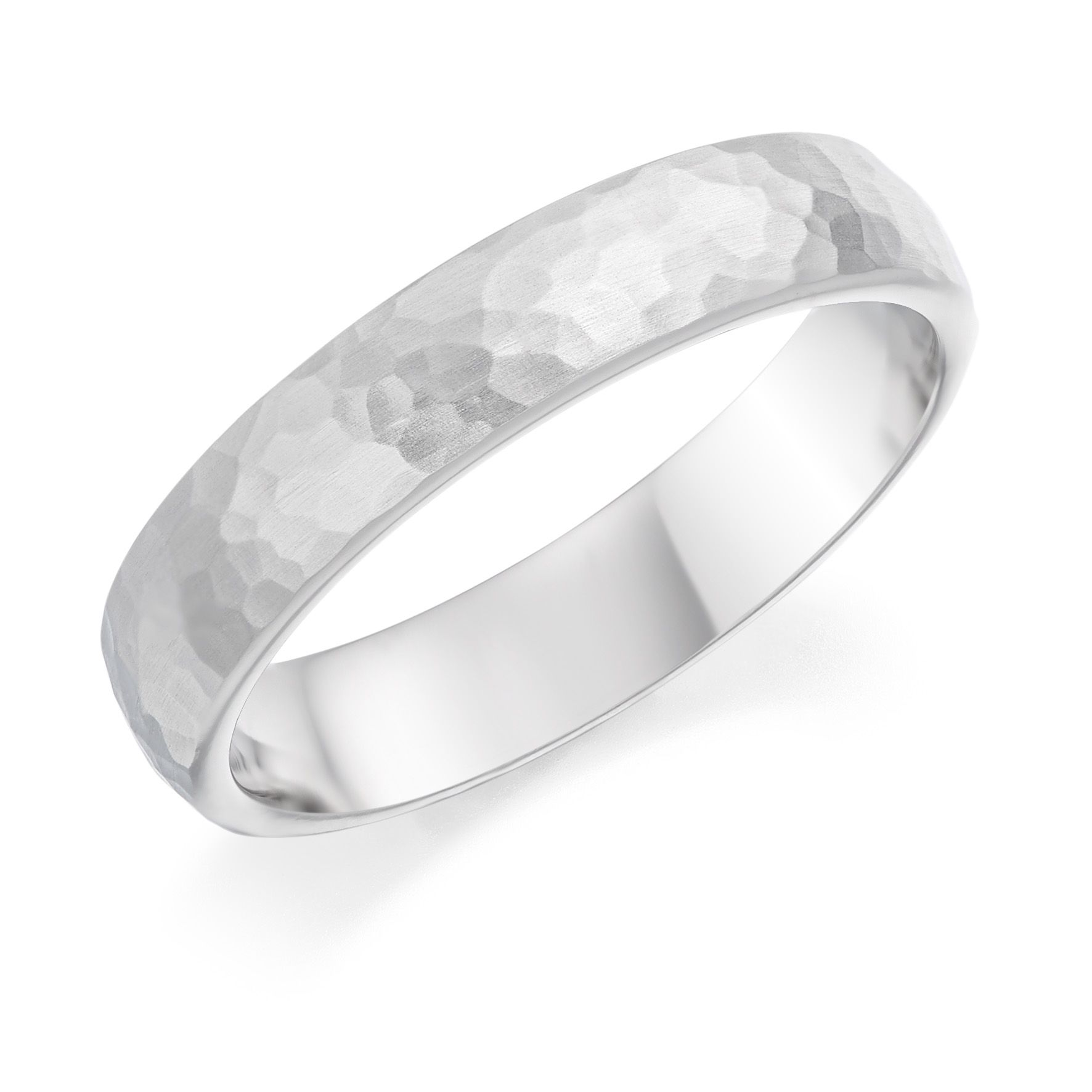 Platinum 4 5mm Cotswold Hammered Finish Court Shaped Wedding Ring Diamond Rings With Price Wedding Ring Shapes Wedding Rings