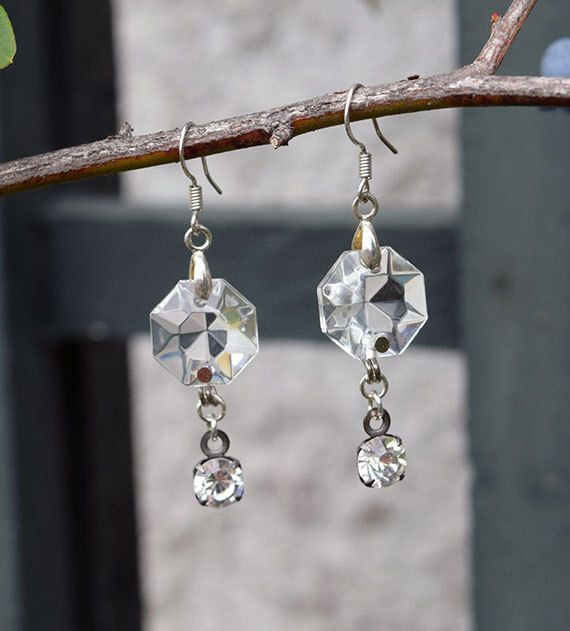 1920's Chandelier Crystal Earrings by LittleDuchessVintage on Etsy https://www.etsy.com/listing/247752475/1920s-chandelier-crystal-earrings