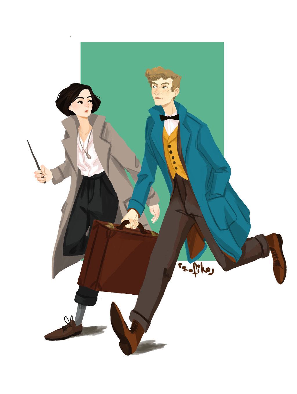 Fantastic Newt And Where To Find Tina By Sofiko Chan On Deviantart