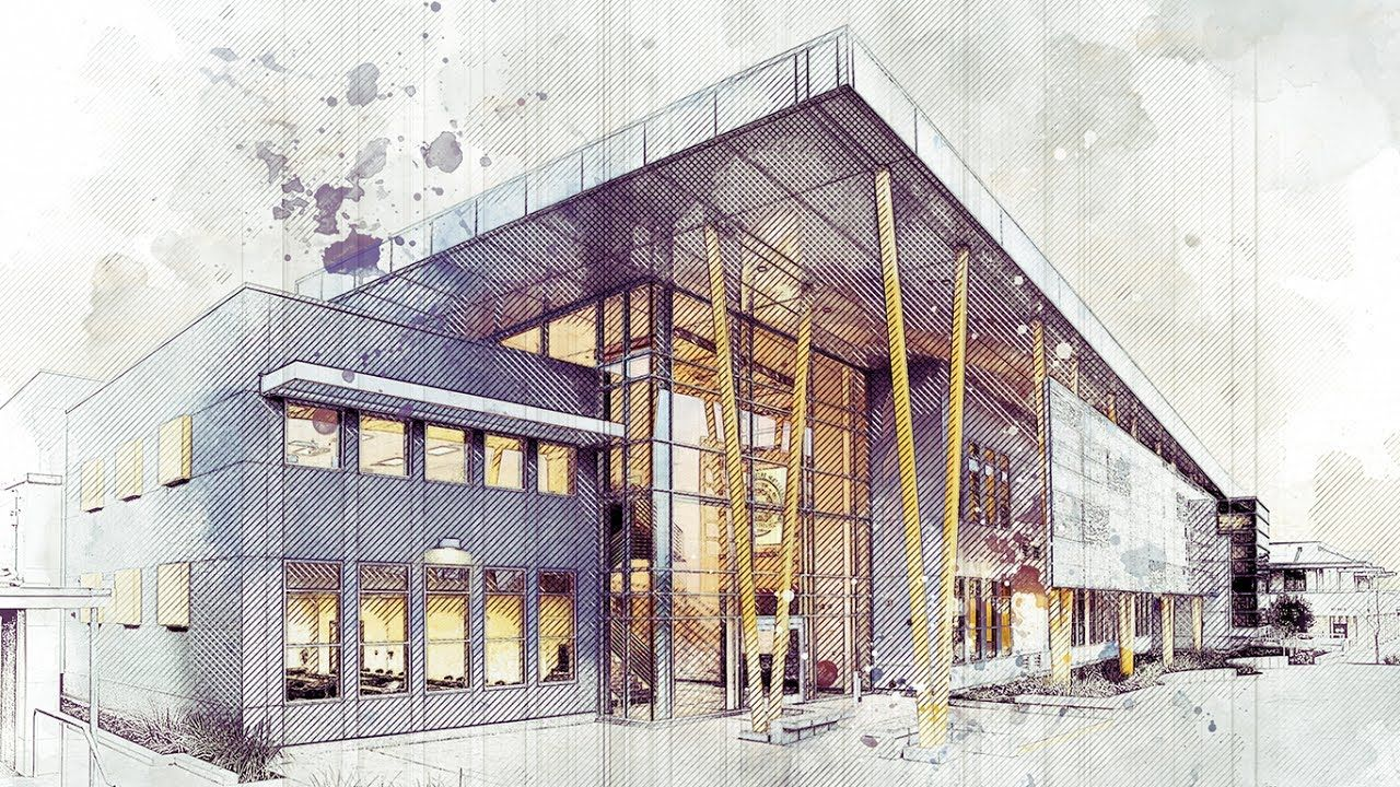 Architecture Art Sketch Photoshop Action Tutorial Advanced