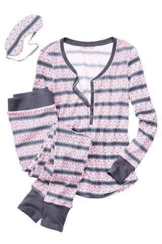 <p>Victoria's Secret Fireside Long Jane Pajama, $40