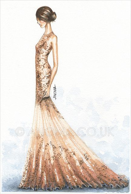 Mcqueen fashion sketch dress