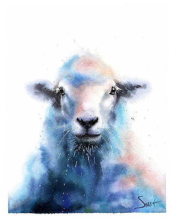 Mouton Art Print Impression De Mouton Mouton Peinture Decor De