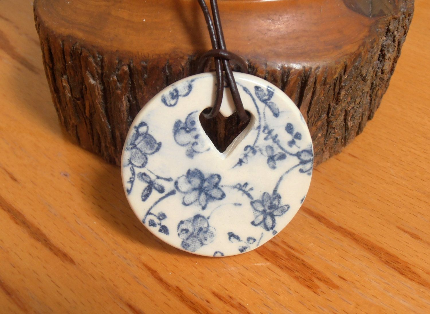 Unique Ceramic Necklace by Australian Artist Travis Collins - Cheap Worldwide Shipping! by CarawayKeepsakes on Etsy