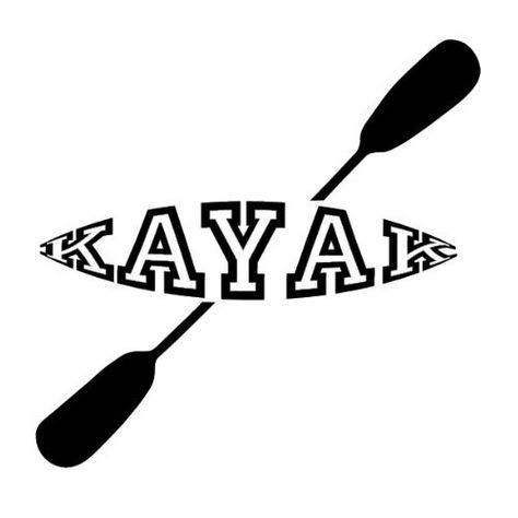 Kayak vinyl decal sticker by greatlakesdecals on etsy
