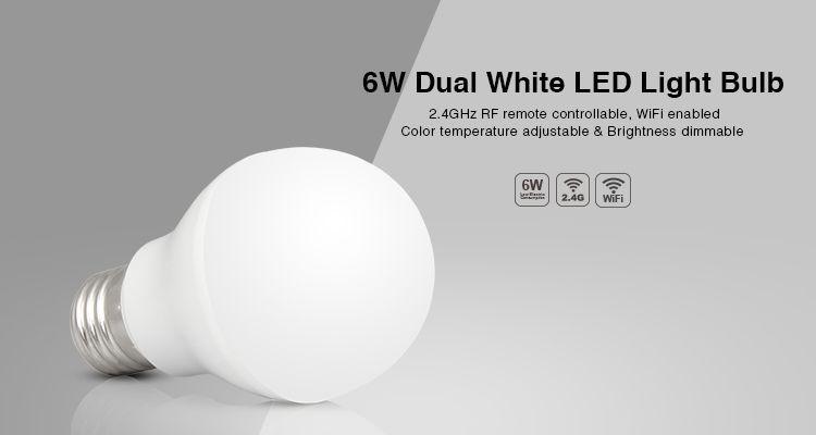 Goedkope 1 stks/partij 6 W E27 RF 2.4 GHZ/wifi led gloeilamp Dual ...
