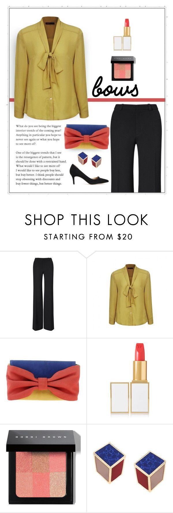 """""""Bowed Over"""" by patricia-dimmick on Polyvore featuring Roland Mouret, Ally Fashion, RED Valentino, Tom Ford, Bobbi Brown Cosmetics, Eshvi, Ann Taylor and bows"""