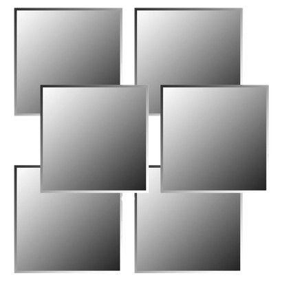 Frameless Bevelled Mirror Tiles 12x12 A New Indoor Wedding Ideas