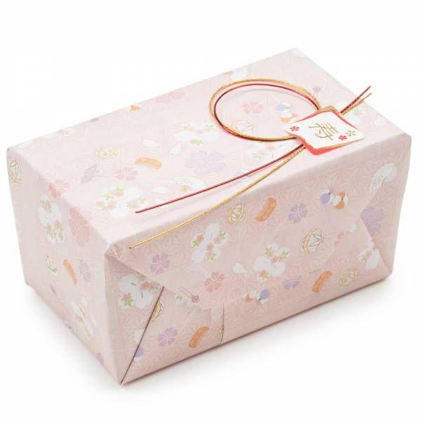 Pink Flower and Temari Japanese Gift Wrap