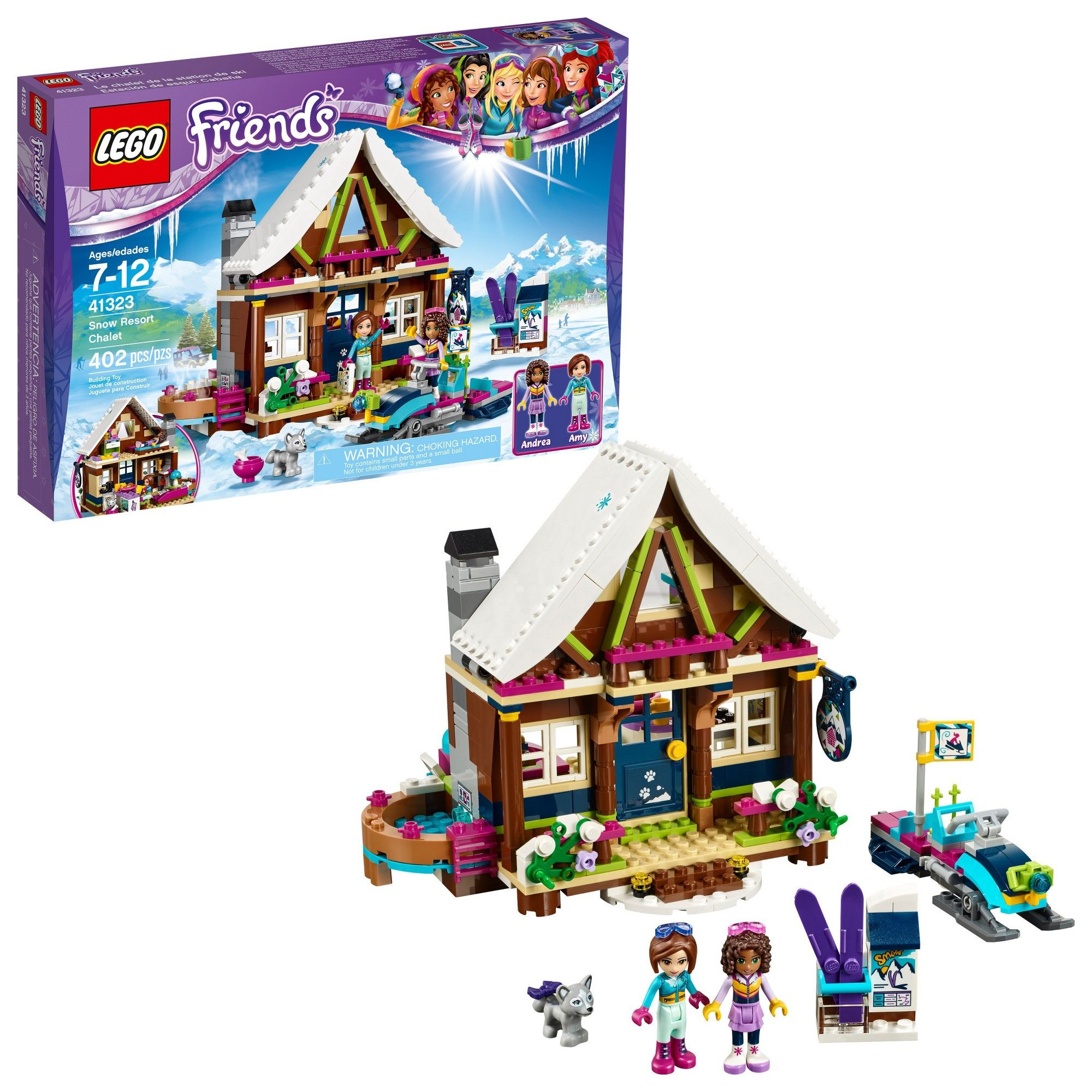Lego Friends Christmas Sets.Lego Friends Snow Resort Chalet 41323 Products Log Cabin
