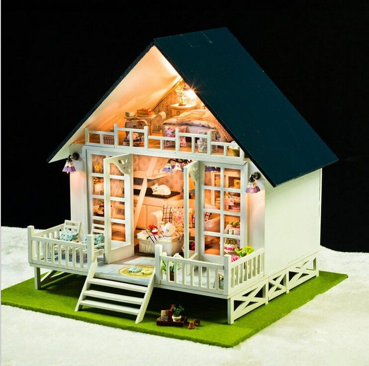 The Nordic Vacation Home 48D Model Household Doll Wooden Dollhouse Mesmerizing Vacation Home Design Ideas Model