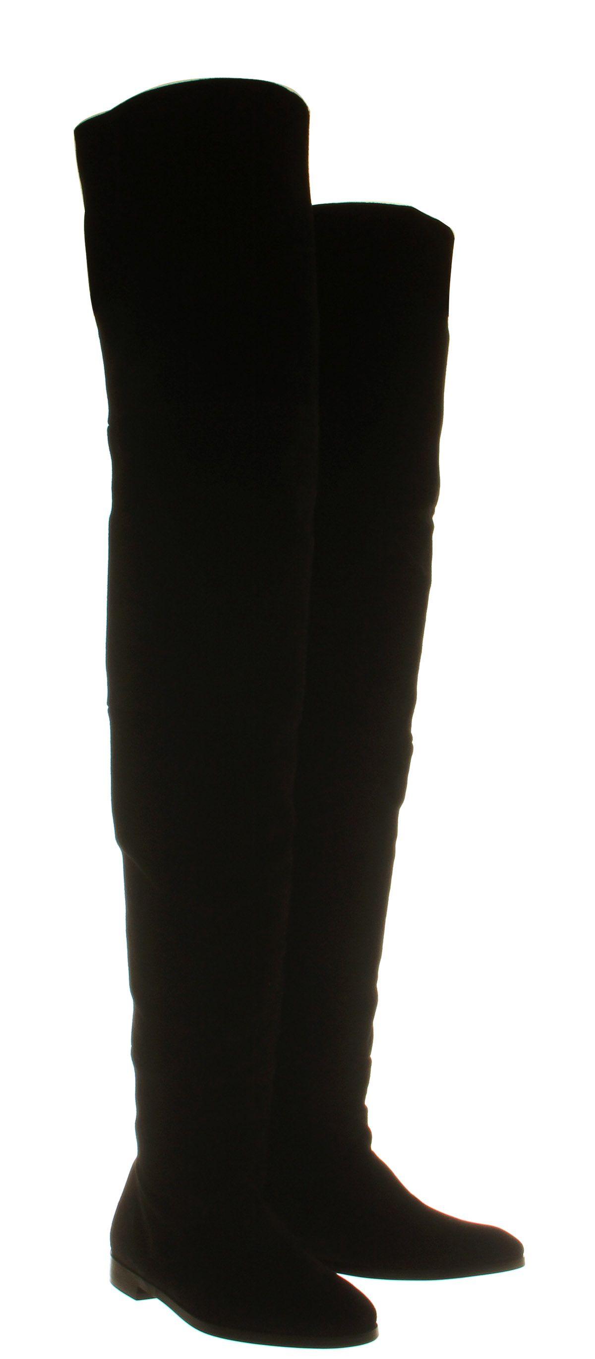 cc683ba643c57 Office Nova 2 Extra High Thigh High Boot Black Suede - Knee Boots ...