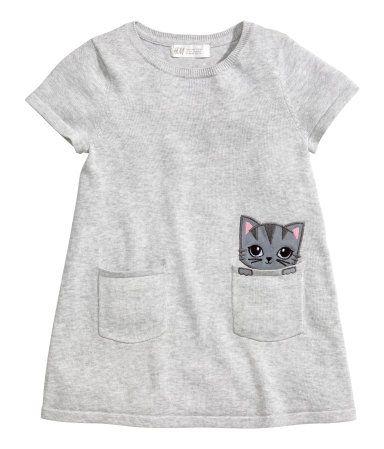 Fine Knit Dress Gray Kids H M Us Ropa Para Ninas Moda