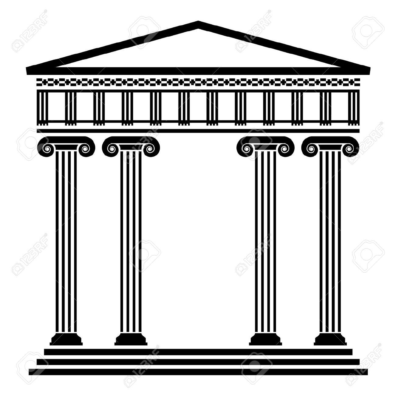 Vector Ancient Greek Architecture With Columns Royalty Free ...