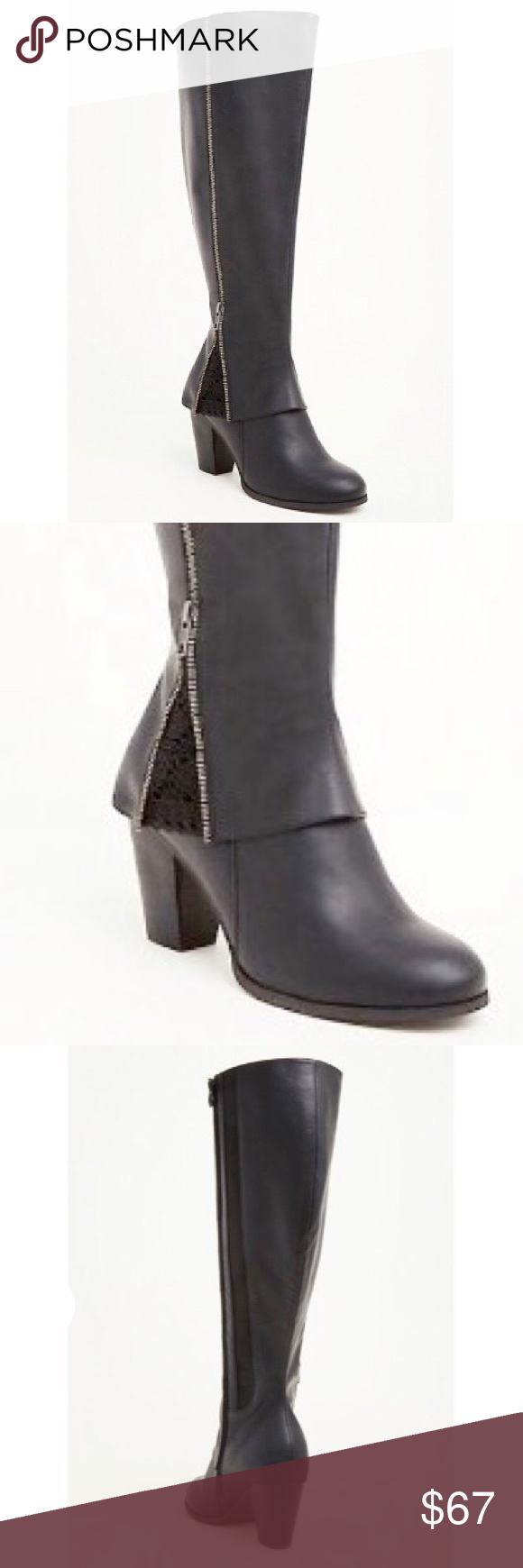 843b2b84903 Torrid crochet embellished Wide Width  amp  calf boots Beautiful and very  unique boots