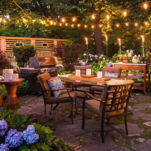 Outdoor Patio Setup From Loweu0027s Creative Ideas!