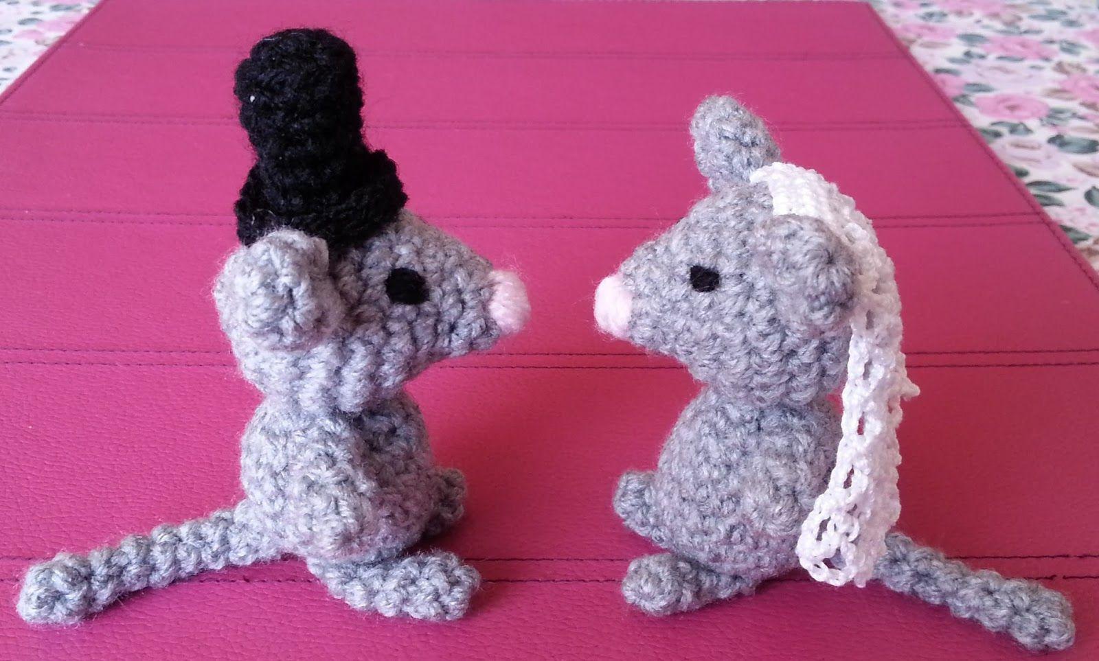 Mäuse Brautpaar Häkeln Tiere