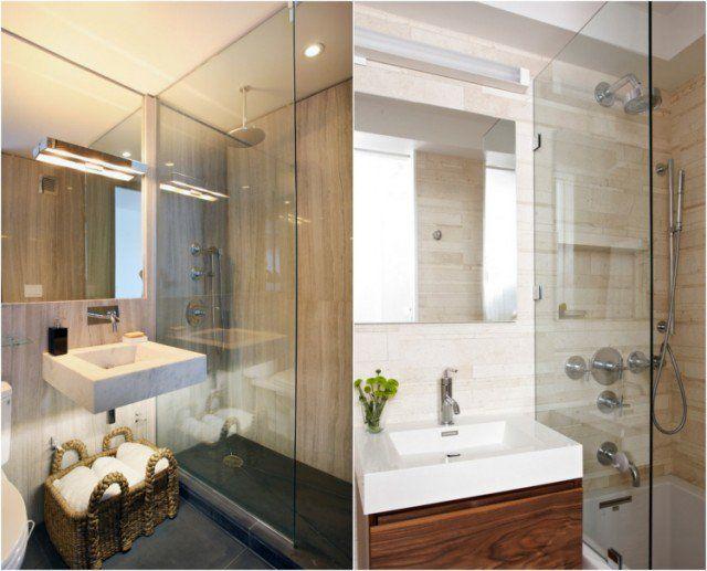 Comment agrandir la petite salle de bains \u2013 25 exemples salle de