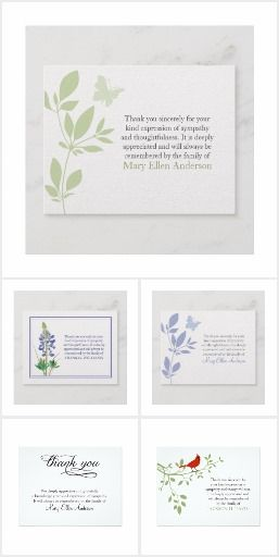 Funeral Thank You note cards Funeral Thank You Note Cards, thank