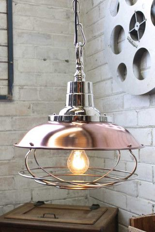 copper cage pendant light industrial lighting pendant lighting