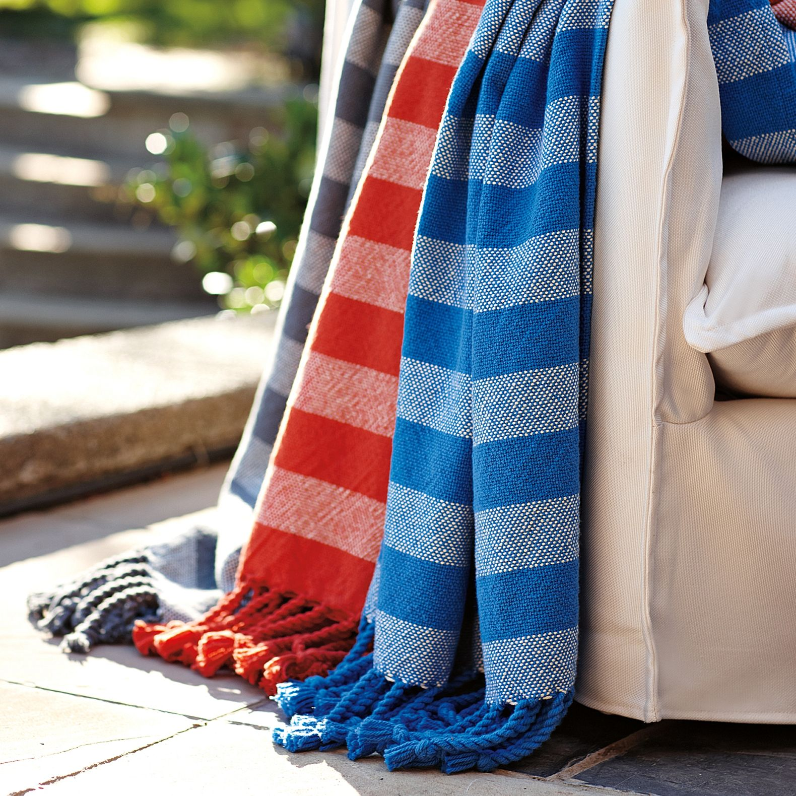 Graphite Awning Stripe Throw Serena Lily Striped Throw Outdoor Awnings Sale Decoration