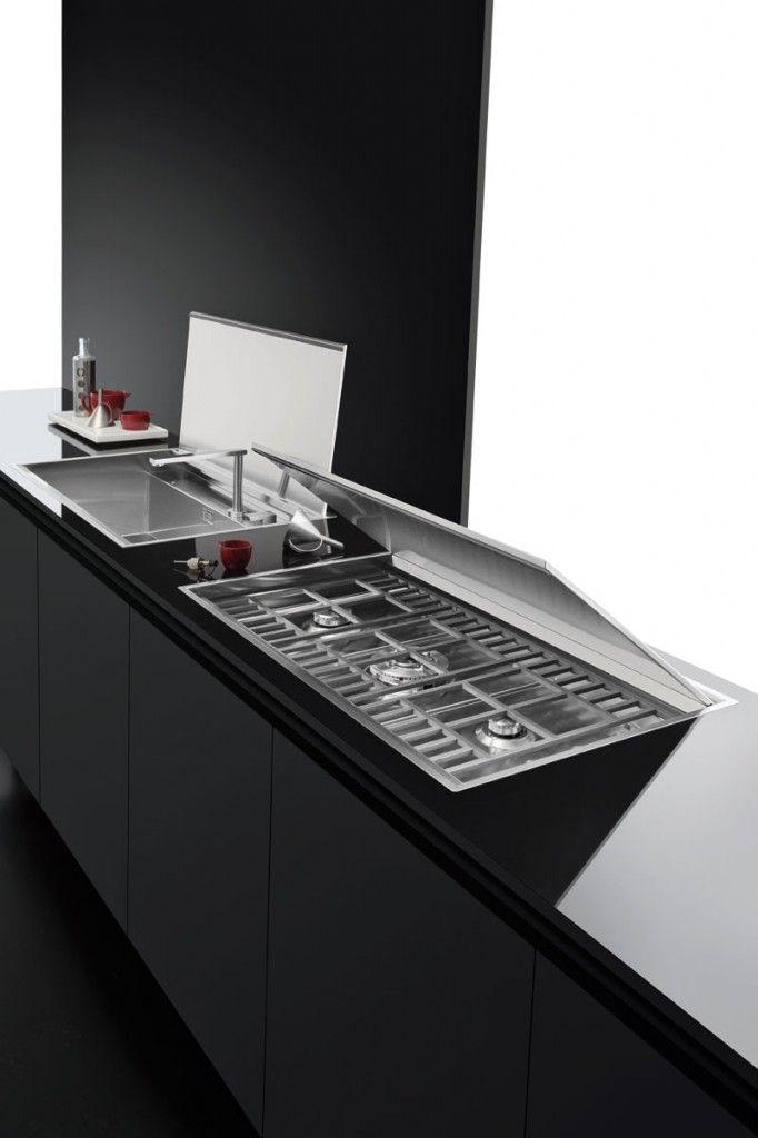 Piano cottura Lab incasso e filo da 120 - Barazza srl | kitchen ...