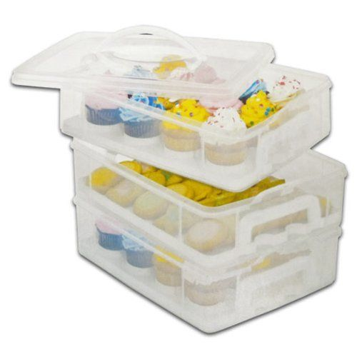 36 Cupcake Carrier Snapware Snap 'n Stack 6 Layer Cupcake Cookie Cake Dessert Carrier