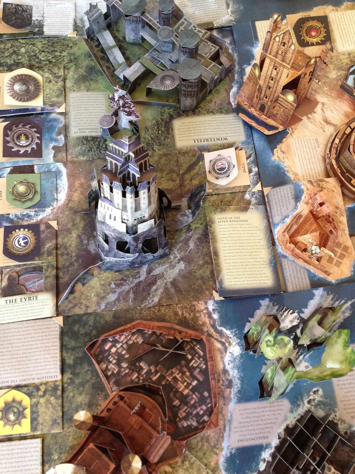 An incredible game of thrones pop up book that unfolds into a huge an incredible game of thrones pop up book that unfolds into a huge dimensional map gumiabroncs Images
