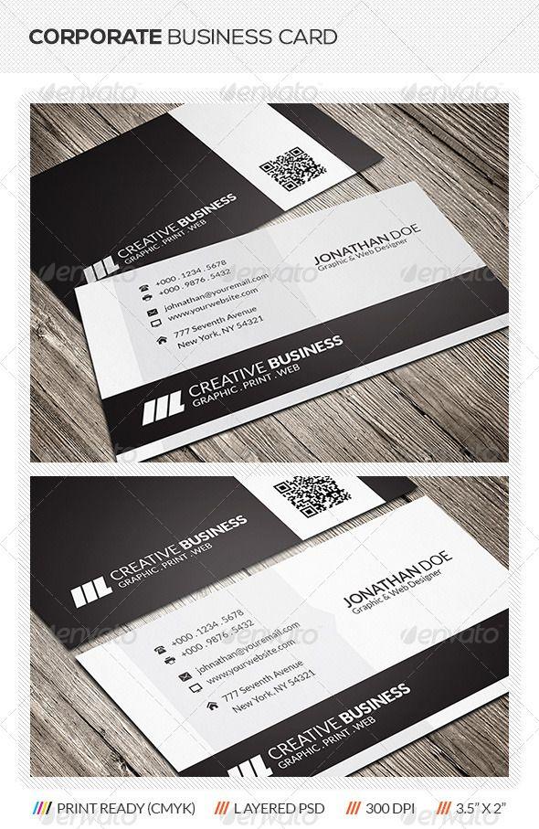 Corporate Business Card Corporate Business Card Business Card Template Business Cards