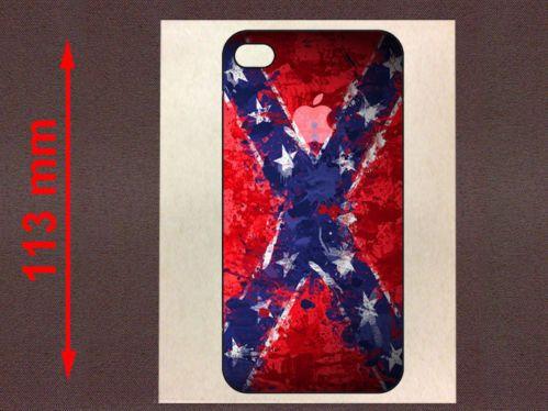 I PHONE 4 CONFEDERATE FLAG DRAPEAU USA - VINYL STICKER 113mm - IA037