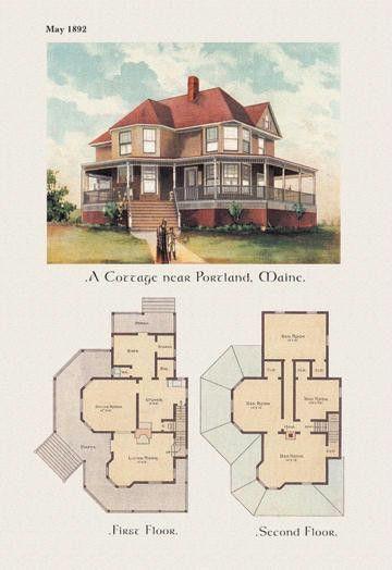 A Cottage Near Portland Maine 24x36 Giclee House Plans Dream House Plans House Blueprints