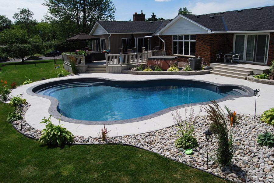 The Murphys Inground Pool Showcase Pioneer Family Pools Backyard Pool Landscaping Inground Pool Landscaping Landscaping Around Pool