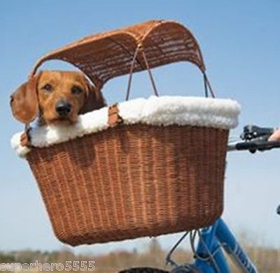 Details About New Pet Basket Bicycle Puppy Rider Dog Carrier Bike